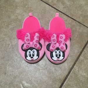 Minnie Mouse House Slippers, Child's 7/8, VGUC